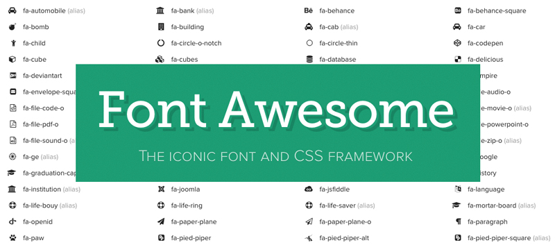 Font Awesome WordPress Theme